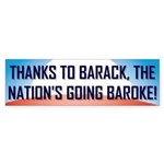 Thanks To Barack Bumper Sticker