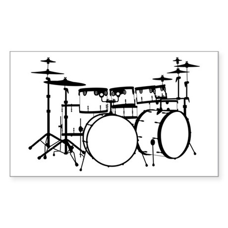 Drum Rectangle Sticker