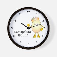 Eggheads Rule Wall Clock
