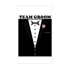 Team Groom Rectangle Decal