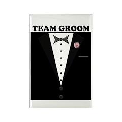 Team Groom Rectangle Magnet (10 pack)