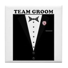 Team Groom Tile Coaster