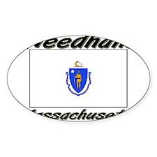 Needham Massachusetts Oval Decal