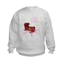 Girl Cradle Catholic Sweatshirt