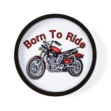 Born to Ride Motorcycle Wall Clock