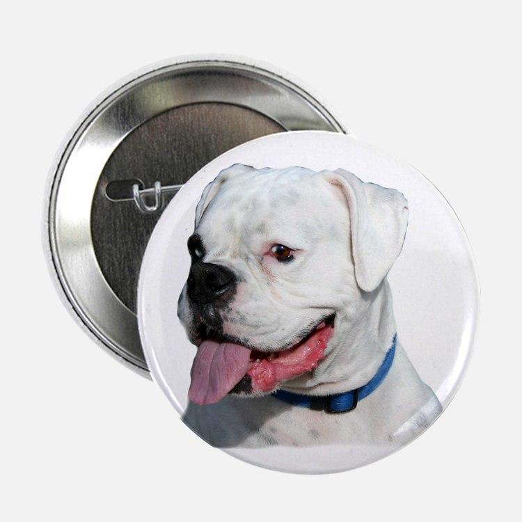 "White Boxer 2.25"" Button"