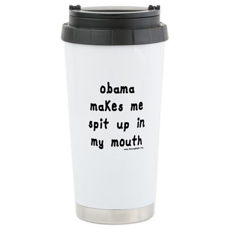 Obama Spit Up Stainless Steel Travel Mug