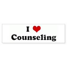 I Love Counseling Bumper Bumper Sticker
