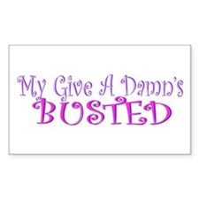 """My Give A Damn's Busted"" Bumper Decal"