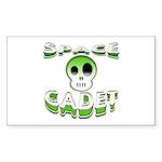 Space cadet Rectangle Sticker 10 pk)
