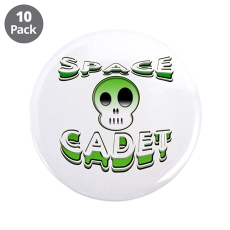 "Space cadet 3.5"" Button (10 pack)"