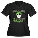 Space cadet Women's Plus Size V-Neck Dark T-Shirt