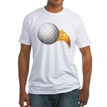 Fiery Golf Fitted T-Shirt