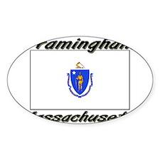 Framingham Massachusetts Oval Decal