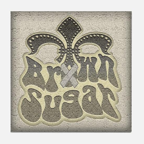Brown Sugar Fleur De Lis Tile Coaster