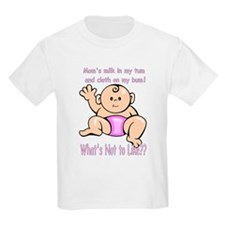 Cloth Diapers and Breastmilk Pink Kids T-Shirt