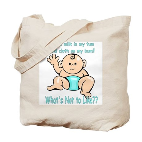 Cloth Diapers and Breastmilk Blue Tote Bag