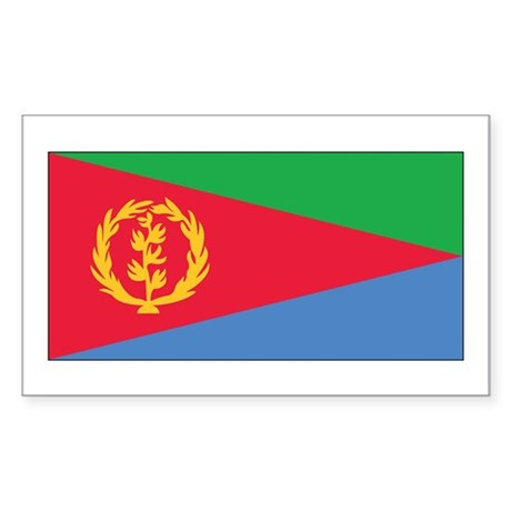 Eritrea Flag Rectangle Sticker