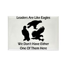 Leaders Are Like Eagles Rectangle Magnet