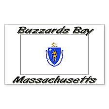 Buzzards Bay Massachusetts Rectangle Decal
