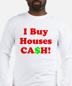 IBuyHouses Long Sleeve T (Front & Back Graphic)