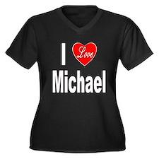 I Love Michael (Front) Women's Plus Size V-Neck Da