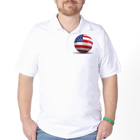 USA Soccer Ball Golf Shirt