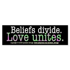 Love Unites Bumper Bumper Sticker