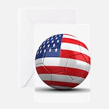 USA Soccer Ball Greeting Card