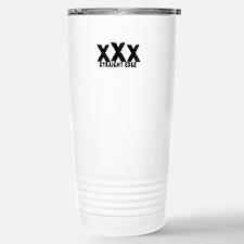 xXx Straight Edge Stainless Steel Travel Mug