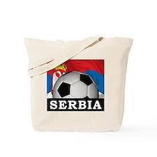 Football Serbia Tote Bag