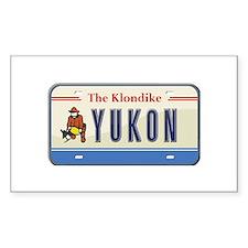 Yukon Plate Rectangle Stickers