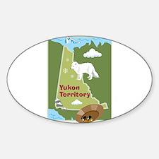 Yukon Map Oval Decal