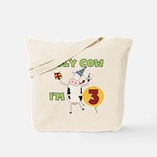 Holy Cow I'm 3 Tote Bag