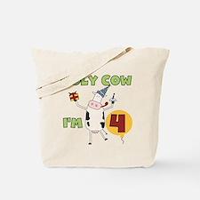 Holy Cow I'm 4 Tote Bag