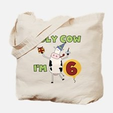 Holy Cow I'm 6 Tote Bag
