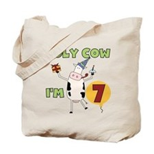 Holy Cow I'm 7 Tote Bag