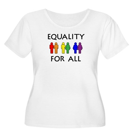 Equality Women's Plus Size Scoop Neck T-Shirt