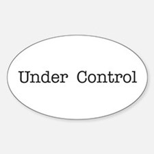 Under Control Oval Decal