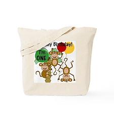 Monkey 1st Birthday Tote Bag