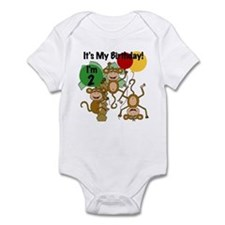 Monkey 2nd Birthday Infant Bodysuit
