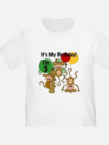 Monkey 3rd Birthday T