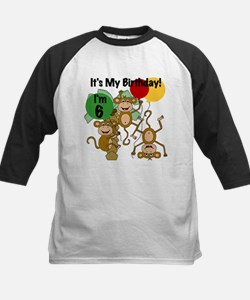 Monkey 6th Birthday Tee