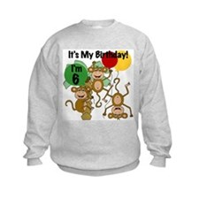 Monkey 6th Birthday Sweatshirt