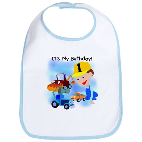 Construction 1st Birthday Bib