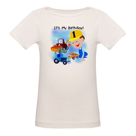 Construction 1st Birthday Organic Baby T-Shirt