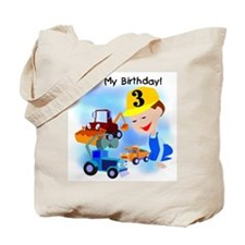 Construction 3rd Birthday Tote Bag