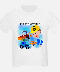 Construction 5th Birthday T-Shirt