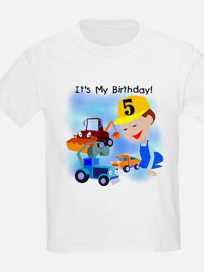 Construction 5th Birthday T-Shirt