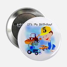 "Construction 5th Birthday 2.25"" Button"